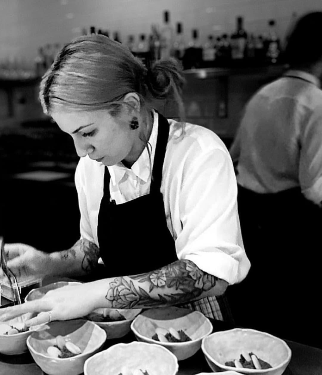 Chef Sarah Scott at her restaurant, Joy. Photo: Supplied