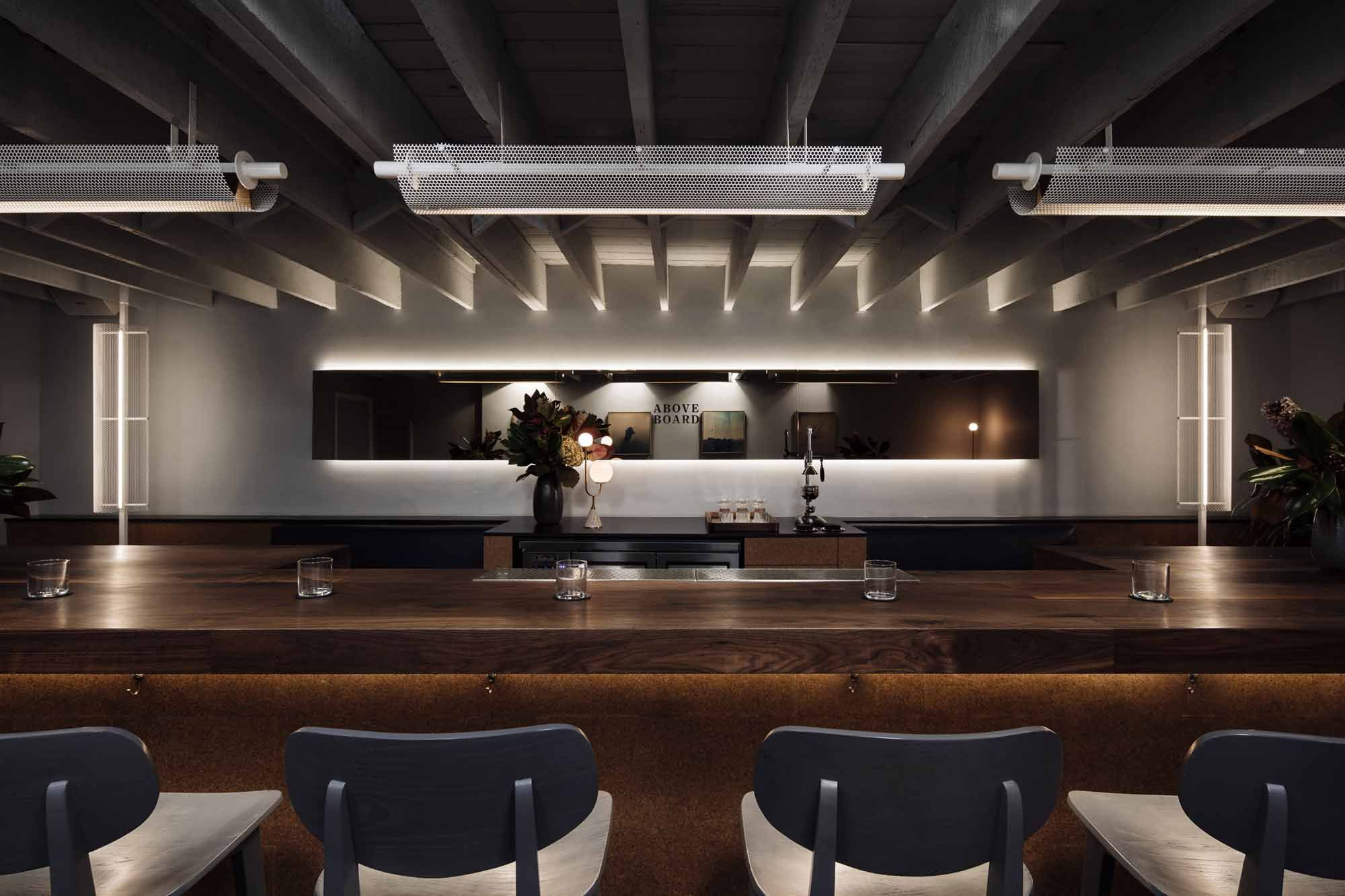 The bar at Above Board. Photo: Supplied