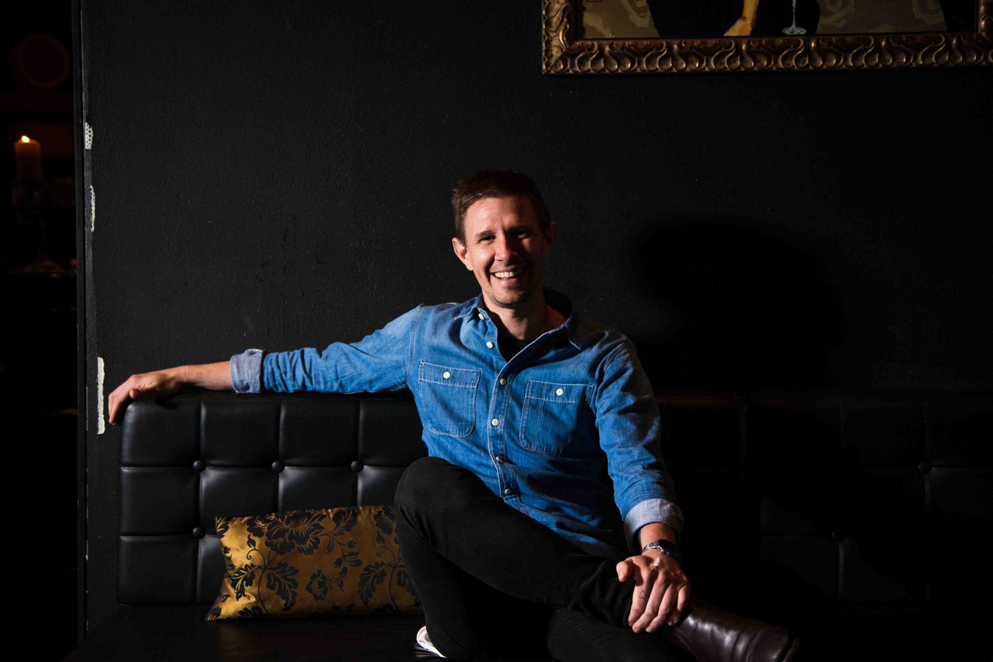 Alex Boon photographed at Eau de Vie, Melbourne.