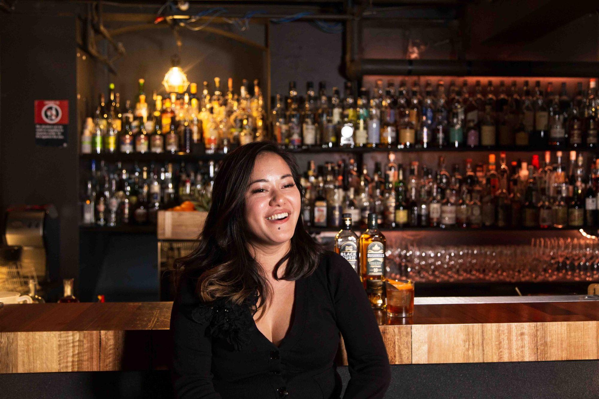 Chau Tran at Burrow Bar in Sydney.