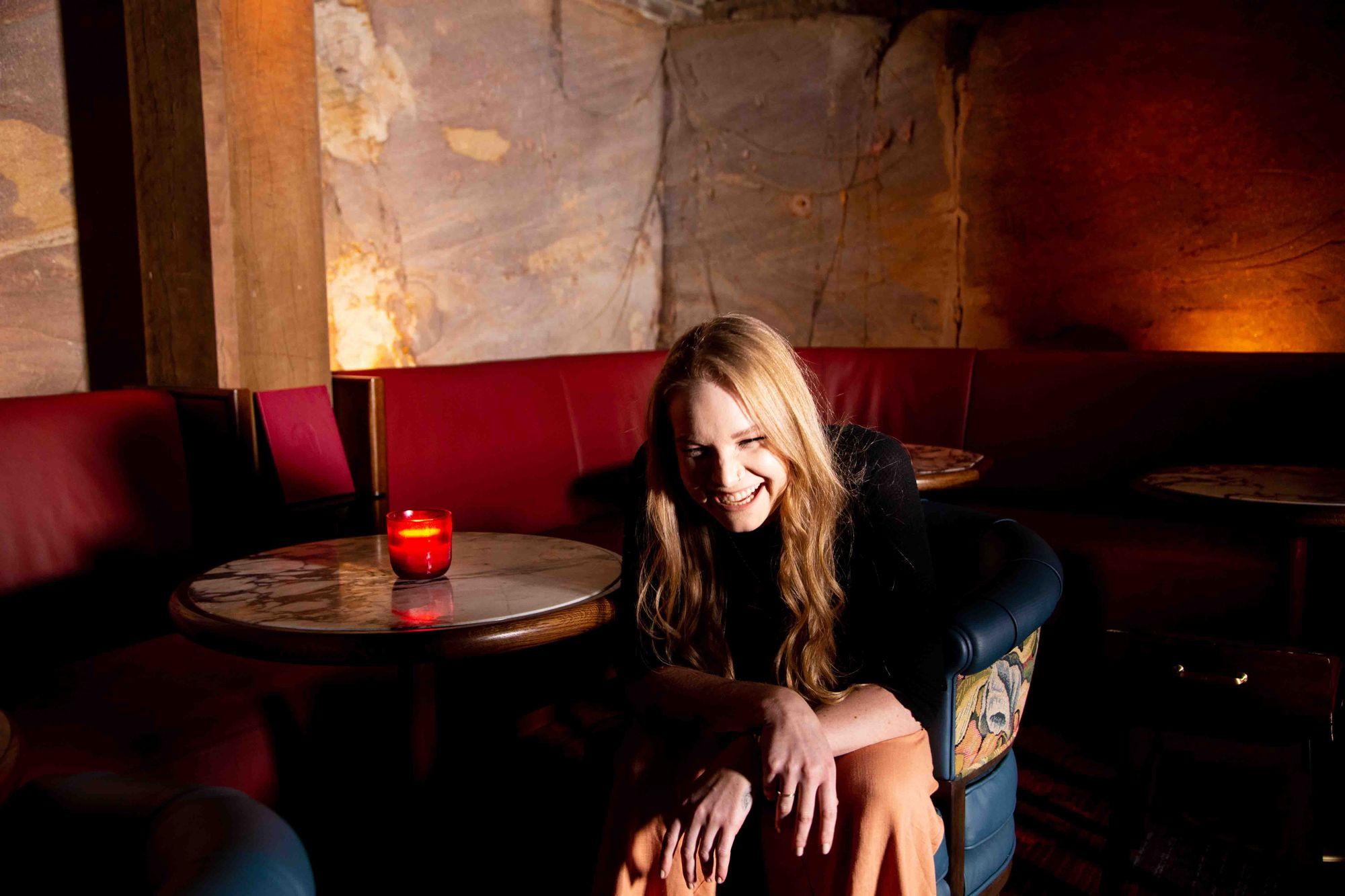 Alissa Gabriel at Apollonia Bar in Sydney.