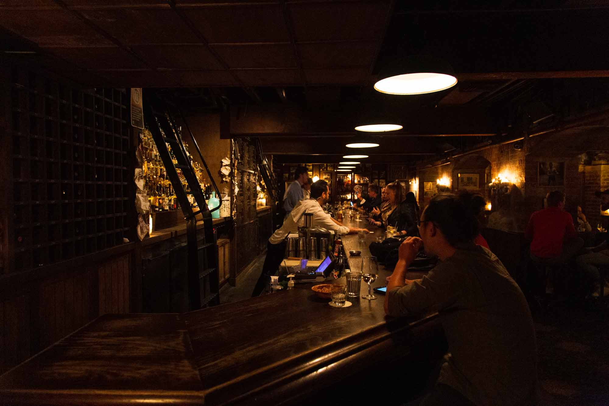 At the point of The Baxter Inn's bar is where you'll often find Sydney hospitality on a break. Photo: Boothby