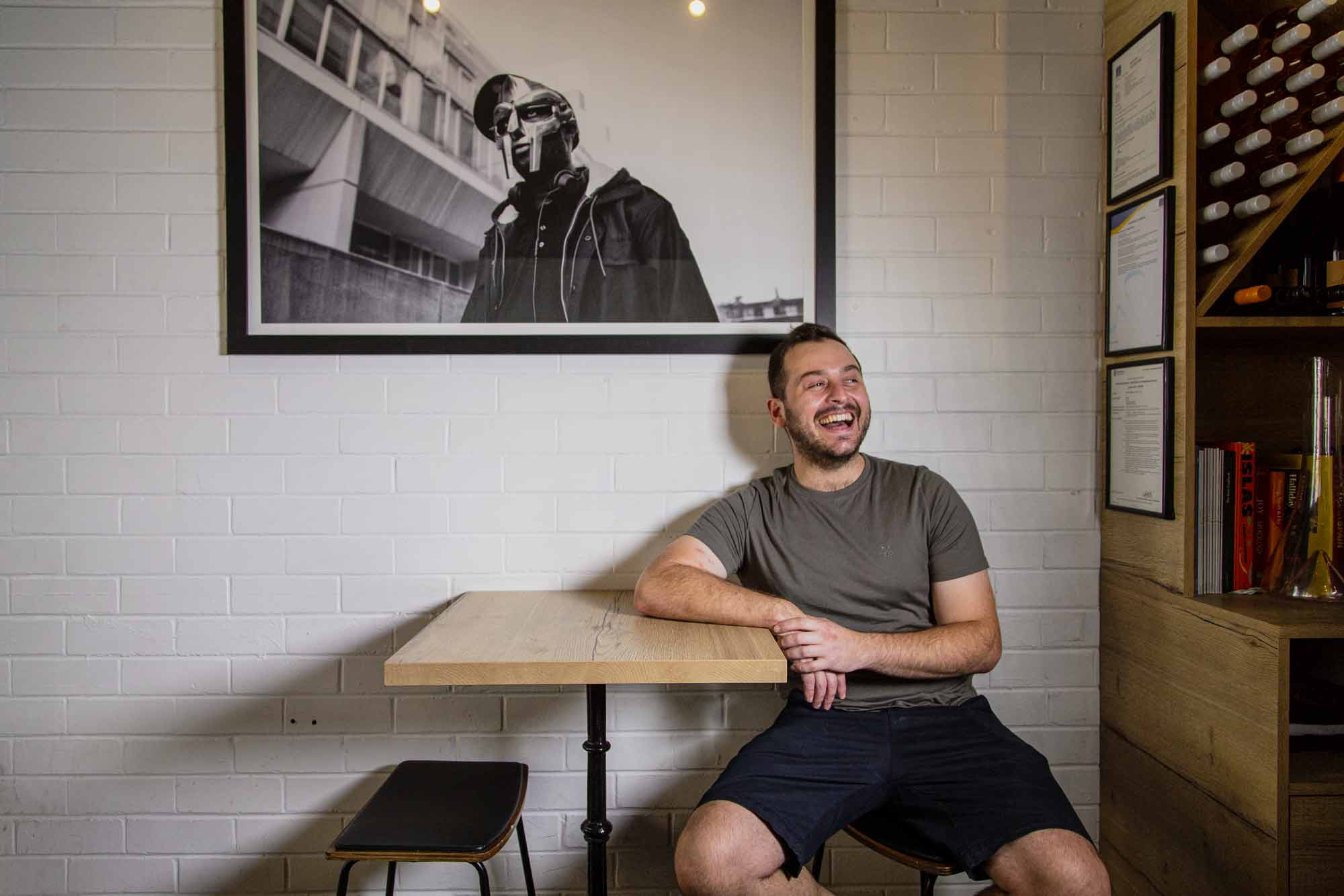 Jamie Fleming at Alba Bar & Deli in Brisbane. Photo: Boothby