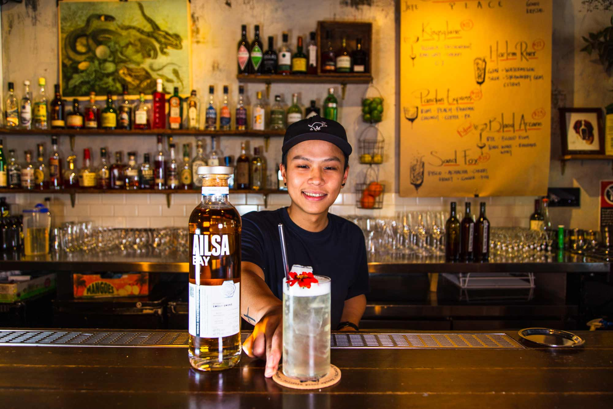 Bartender Jeff Santony at Bulletin Place, Sydney. Photo: Boothby