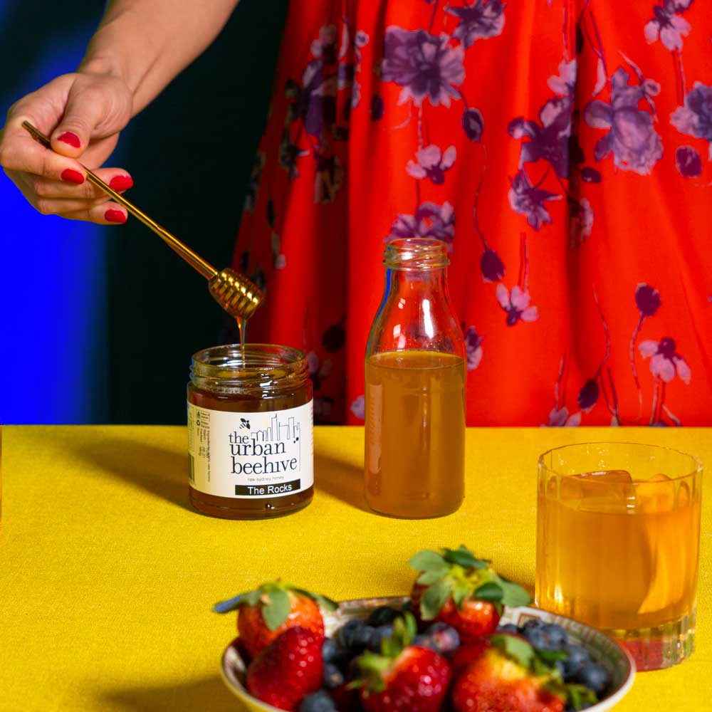 To make the honey syrup, dissolve 100g of local honey in 64g of hot water. Bottle and chill. Photo: Boothby