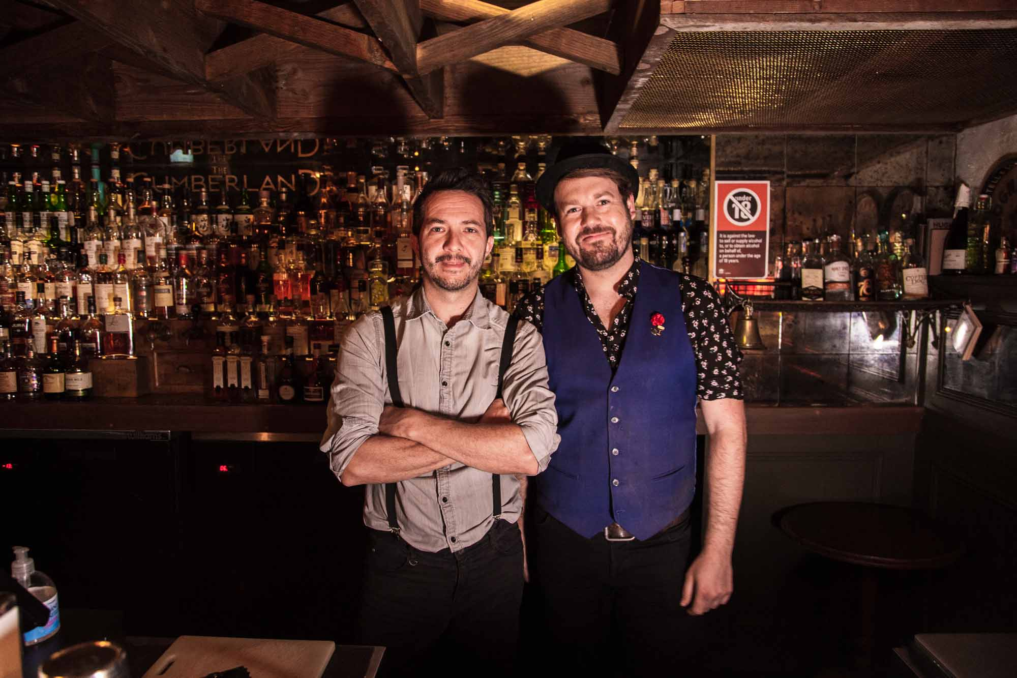 Pete Ehemann (right) with The Cumberland bar manager Petr Dvoracek. Photo: Boothby